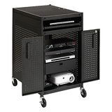 Bretford TC15SAFF-BK Multimedia Technology Cart - Steel, Aluminum, Polyethylene - Black