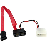 StarTech.com 20in Slimline SATA Male to SATA with LP4 Power Cable Adapter