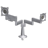 Chief KCY210 Height Adjustable Dual Arm Dual Monitor Desk Mount