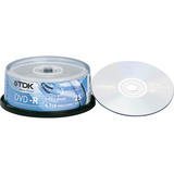 DVD-R Discs, 4.7GB, 16x, Spindle, Silver, 25/Pack  MPN:48517