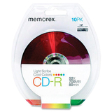 Memorex CD Recordable Media - CD-R - 52x - 700 MB - 10 Pack Blister Pack 04538