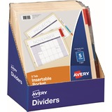 Avery 5-Tab Punched Pocket Dividers