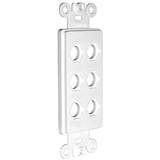 Niles MB-6D Blank Decora Faceplate Insert for Six Connectors