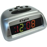 Geneva Clock Elgin LED Bedside Alarm Clock