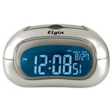 Geneva Clock Elgin LCD Electric Table Clock - 3455E