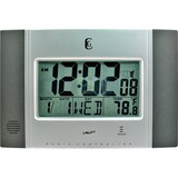 Geneva Clock Radio Controlled LCD Wall Clock