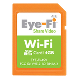Eye-Fi Share Video 4GB SDHC Wi-Fi Memory Card