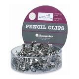 Baumgartens Pencil Clip Display Show Case - Metal - Silver