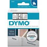 Dymo Black on White D1 Label Tape 45013
