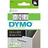 Dymo Black on White D1 Label Tape 45013