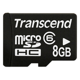 Transcend 8GB micro Secure Digital High Capacity (SDHC) Card - Class 6