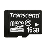 Transcend 16GB microSD High Capacity (microSDHC) Card - Class 6