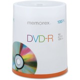 Memorex DVD Recordable Media - DVD-R - 16x - 4.70 GB - 100 Pack Spindle 05641