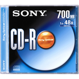 Sony CDQ80R CD Recordable Media - CD-R - 48x - 700 MB - 1 Pack Jewel Case CDQ80R