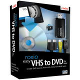 Roxio Easy VHS to DVD with USB 2.0 TV/Video Capture Device - Complete Product - 1 User 243100