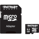 Patriot Memory 8GB Patriot Signature microSD High Capacity (microSDHC) Card - Class 4