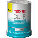 Maxell 48x CD-R Media - 700MB - 120mm Standard - 100 Pack Spindle