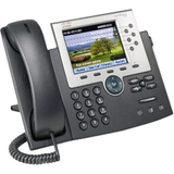 Cisco 7965G IP Phone - Refurbished - Cable - Desktop, Wall Mountable - Dark Gray, Silver