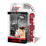 Maxell Action Sports AS-1 Stereo Earphone - Connectivity: Wired - Stereo - Earbud