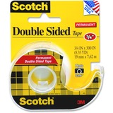 "Scotch Double Sided Tape - 0.75"" Width x 300"" Length - Photo-safe, Rem - 237"