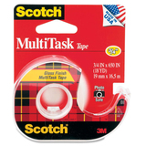 Scotch MultiTask Transparent Tape - 0.75' Width x 650' Length - 1' Core - 1 Each