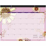 AAG5035 - At-A-Glance Flowers Desk Pad Calendar