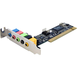 StarTech.com 5 Channel Low Profile PCI Sound Adapter Card PCISOUND5LP