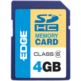 EDGE Tech HD Video 4GB Secure Digital High Capacity (SDHC) Card - Class 6