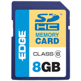 EDGE Tech HD Video 8GB Secure Digital High Capacity (SDHC) Card - Class 6