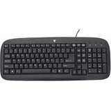 V7 KC0B2-6N6 Keyboard - Wired - Black - OEM