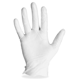 Disposable General Purpose Glove - Large Size - Powdered, Ambidextrous - Vinyl - 100 / Box - Clear