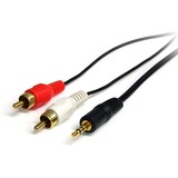 StarTech.com 6 ft Stereo Audio Cable - 3.5mm Male to 2x RCA Male