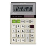 Sharp Glass Top Basic Handheld Calculator - EL377TB