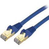 StarTech.com 7ft Blue Shielded Cat6a Molded STP Patch Cable