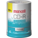 Maxell CD Recordable Media - CD-R - 48x - 700 MB - 100 Pack Spindle 648200