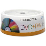 Memorex DVD Rewritable Media - DVD+RW - 4x - 4.70 GB - 25 Pack Spindle 05541