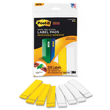 Post-it Super Sticky Two Color Label Pad
