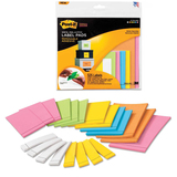 Post-it Super Sticky Six Color Label Pad