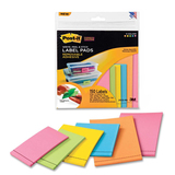 Post-it Super Sticky Five Color Label Pad