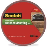 4011LONG - Scotch Exterior Weather-Resistant Double-Sided Tape with Red Liner
