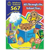 Teacher Created Resources All Through the School Year Sticker Book - 4229