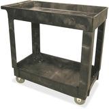 Service/Utility Cart, 2-Shelf, 16w x 34d x 31-1/4h, Black  MPN:9T6600BLA