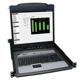 Tripp Lite NetDirector Console RM LCD KVM Switch with 8 Cables