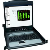 Tripp Lite NetDirector Console RM LCD KVM Switch with 8 Cables - Steel Housing B020-U16-19-K