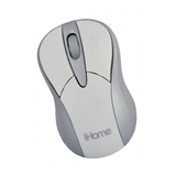 LifeWorks iHome IH-M183ZW Mouse - Laser Wireless - White
