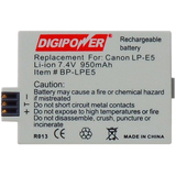 DigiPower BP-LPE5 Digital Camera Battery BP-LPE5