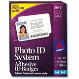 Photo ID Badge Labels, Inkjet, 2-1/4x3-1/2