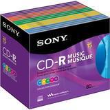 Sony 15CRM80RX CD Recordable Media - CD-R - 700 MB - 15 Pack Slim Jewel Case