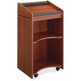 Executive Mobile Lectern, 25-1/4w x 19-3/4d x 46h, Cherry  MPN:8918CY