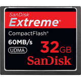 SanDisk Corporation SDCFX-032G-A61 Extreme SDCFX-032G-A61 32GB CompactFlash Card - 400x